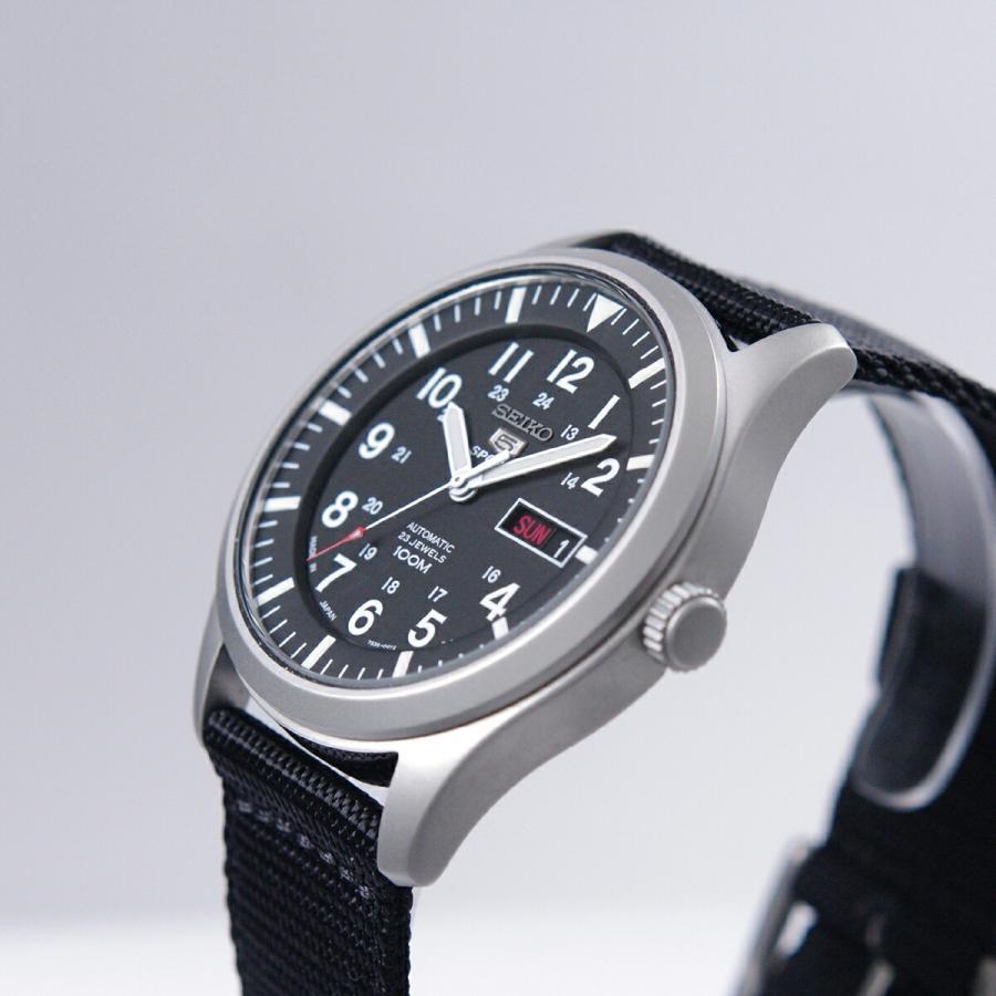セイコー SEIKO 5 SPORTS【日本製】腕時計 海外モデル 自動巻き ミリタリー ブラック SNZG15J1 メンズ [逆輸入品]|akky-international|03