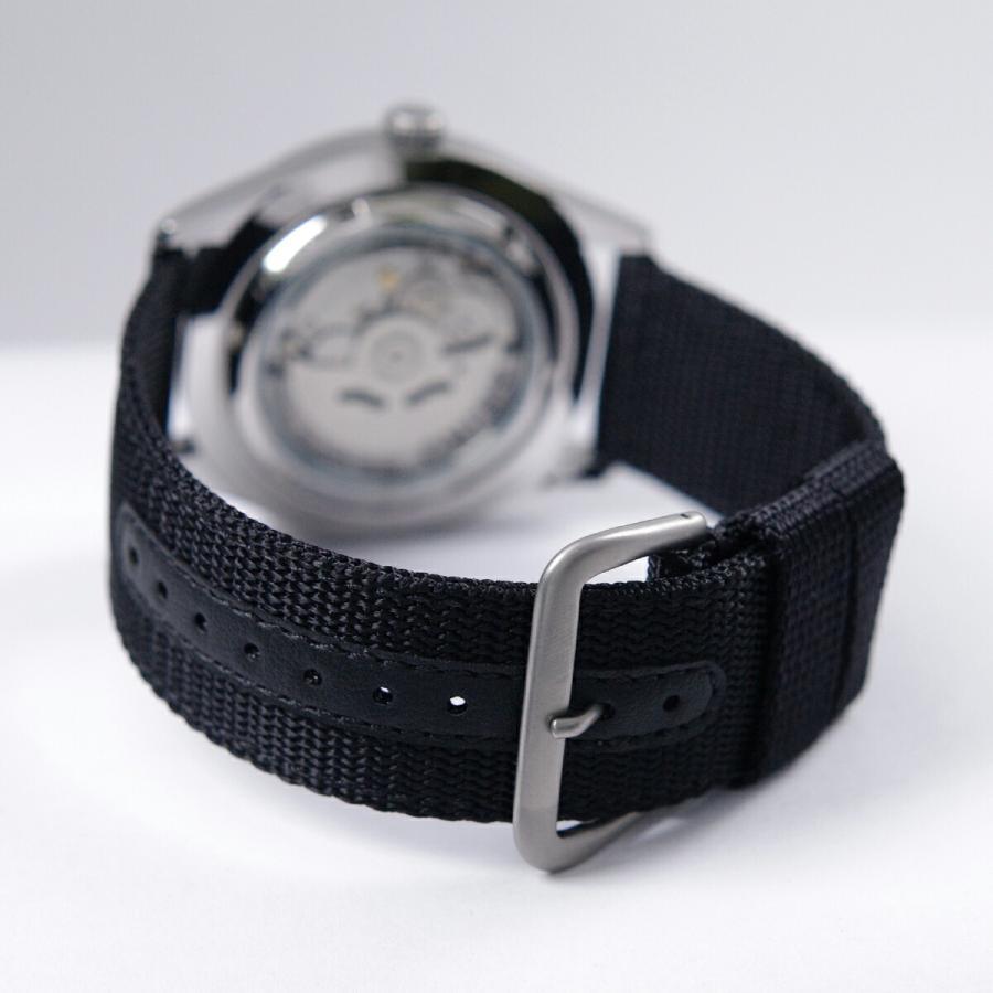セイコー SEIKO 5 SPORTS【日本製】腕時計 海外モデル 自動巻き ミリタリー ブラック SNZG15J1 メンズ [逆輸入品]|akky-international|05