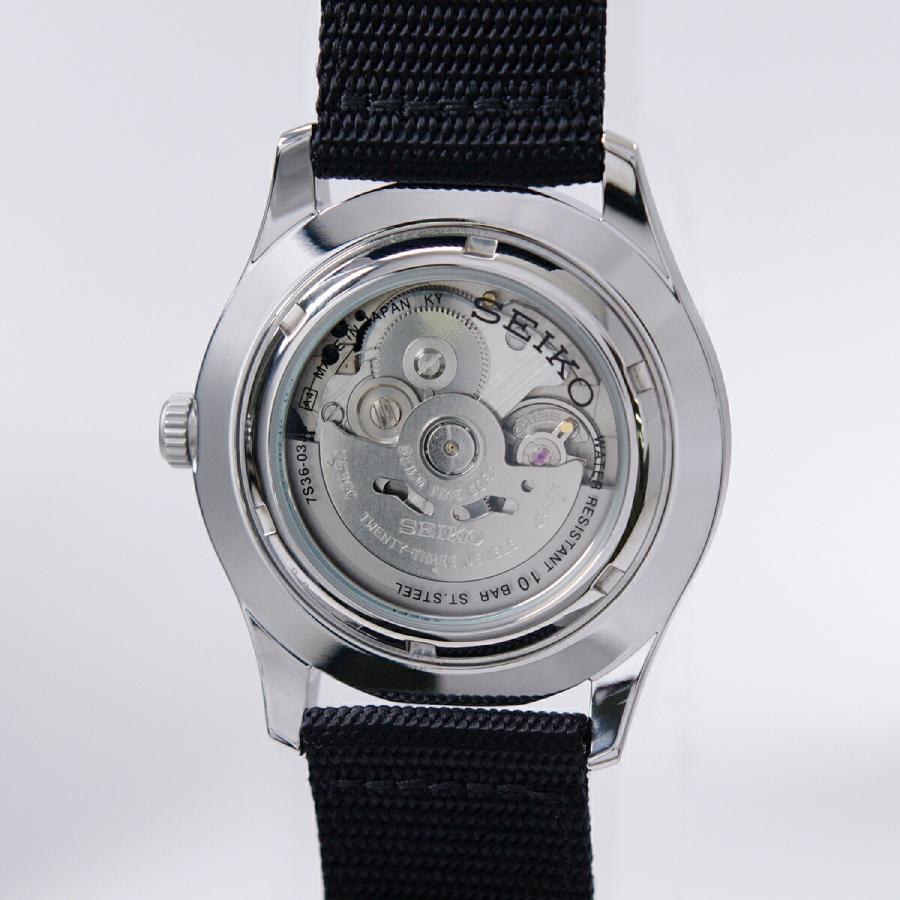 セイコー SEIKO 5 SPORTS【日本製】腕時計 海外モデル 自動巻き ミリタリー ブラック SNZG15J1 メンズ [逆輸入品]|akky-international|06