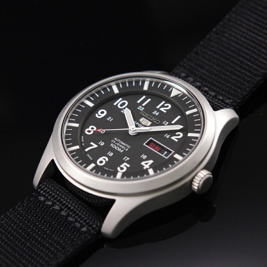 セイコー SEIKO 5 SPORTS【日本製】腕時計 海外モデル 自動巻き ミリタリー ブラック SNZG15J1 メンズ [逆輸入品]|akky-international|07