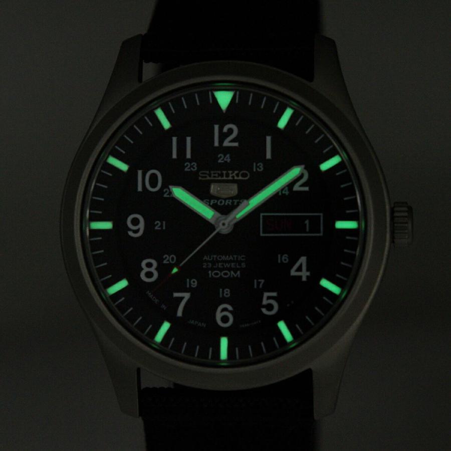 セイコー SEIKO 5 SPORTS【日本製】腕時計 海外モデル 自動巻き ミリタリー ブラック SNZG15J1 メンズ [逆輸入品]|akky-international|08