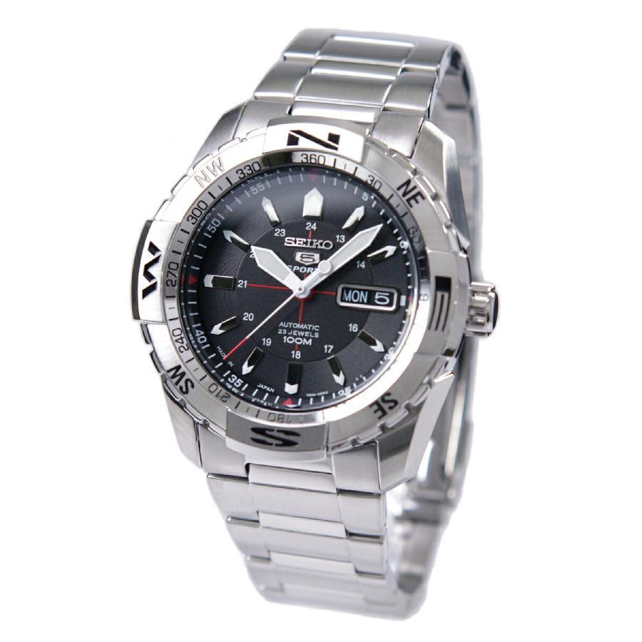 セイコー SEIKO 5 SPORTS【日本製】腕時計 海外モデル 自動巻き ブラック文字盤 SNZJ05J1 メンズ [逆輸入品]|akky-international