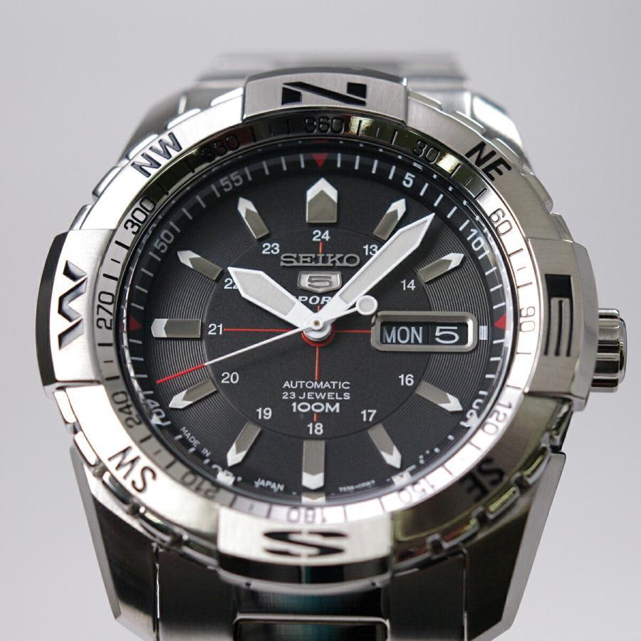 セイコー SEIKO 5 SPORTS【日本製】腕時計 海外モデル 自動巻き ブラック文字盤 SNZJ05J1 メンズ [逆輸入品]|akky-international|02