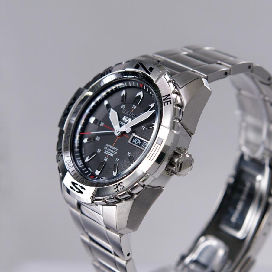 セイコー SEIKO 5 SPORTS【日本製】腕時計 海外モデル 自動巻き ブラック文字盤 SNZJ05J1 メンズ [逆輸入品]|akky-international|03