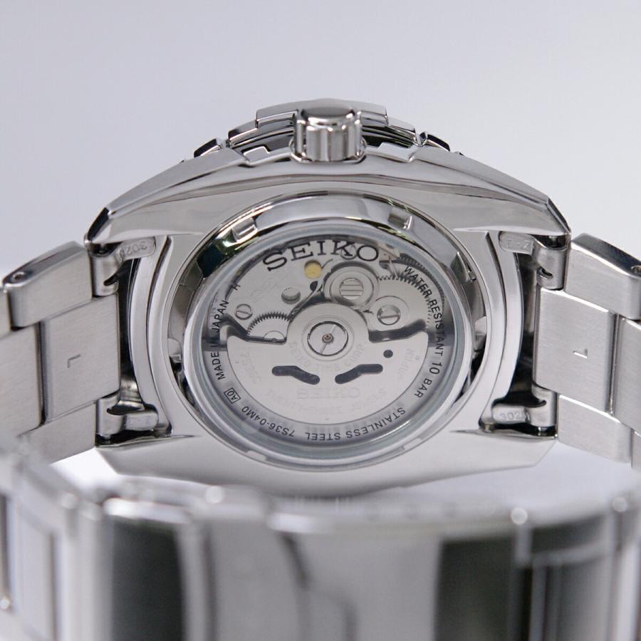 セイコー SEIKO 5 SPORTS【日本製】腕時計 海外モデル 自動巻き ブラック文字盤 SNZJ05J1 メンズ [逆輸入品]|akky-international|06