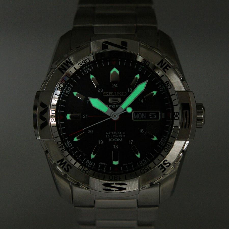 セイコー SEIKO 5 SPORTS【日本製】腕時計 海外モデル 自動巻き ブラック文字盤 SNZJ05J1 メンズ [逆輸入品]|akky-international|08