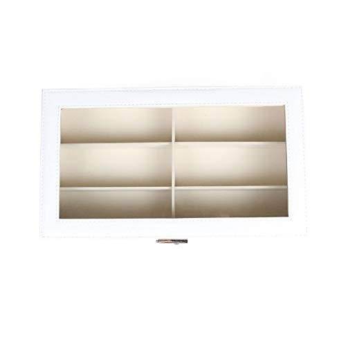 Goetland 眼鏡 メガネ サングラス 収納 ケース ボックス コレクション 展示用 ガラス天板 大容量 12本(二段式)|akmet-shop|06