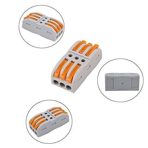 FULARRR 30個 プレミアム レバーナットワイヤコネクタ、導体コンパクトワイヤコネクタ、ワンタッチコネクター (20個 SPL-2 / 10個|akmet-shop|02