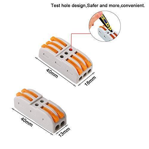 FULARRR 30個 プレミアム レバーナットワイヤコネクタ、導体コンパクトワイヤコネクタ、ワンタッチコネクター (20個 SPL-2 / 10個|akmet-shop|03