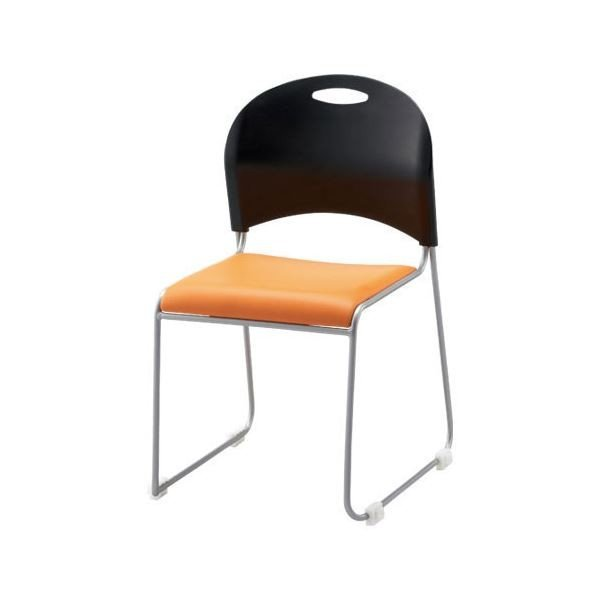 事務用チェア | | FRENZ 会議イススタッキングチェア (オレンジ×ブラック) NSC20L OR