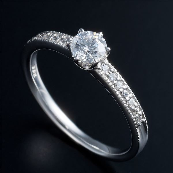 魅了 Dカラー・VVS2・EX Pt0.3ct ダイヤエタニティリング (鑑定書付き) 17号 | ダイヤモンド, 花のまちころぼっくる 132a4fa9