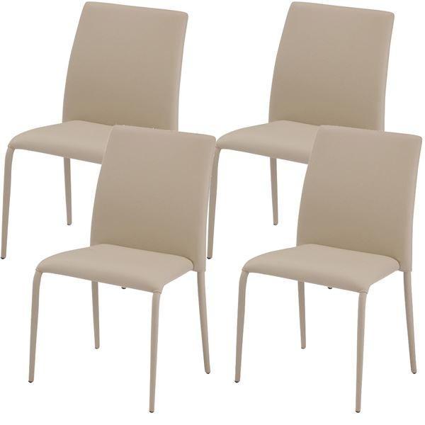 椅子 | あずま工芸 ダイニングチェア スタッキング可能 ベージュ(4脚入) TDC9336