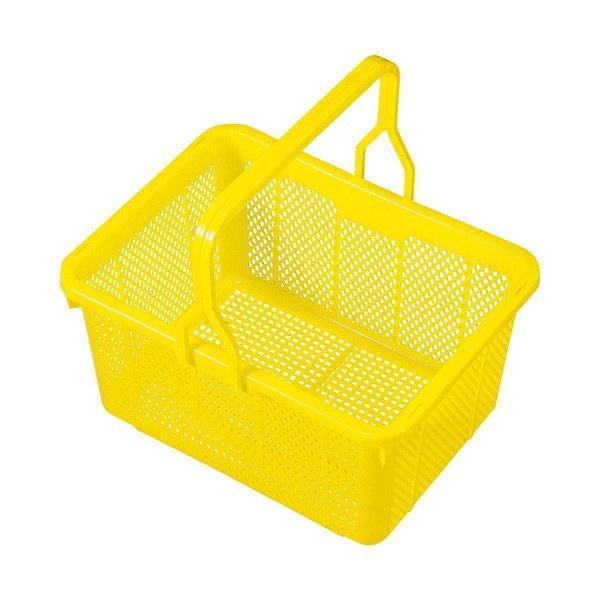 (まとめ売り×10) 積水テクノ成型 スクールバスケット イエロー