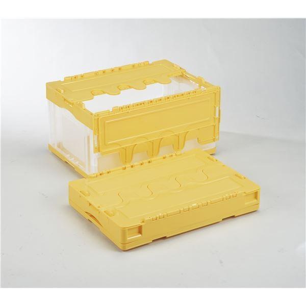 フタ付き折りたたみコンテナオリコン (40Lイエロー透明) (40Lイエロー透明) (40Lイエロー透明) CFS41NR 岐阜プラスチック工業 304