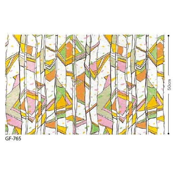 ステンドグラス 飛散低減ガラスフィルム 飛散低減ガラスフィルム サンゲツ GF765 91.5cm巾 9m巻