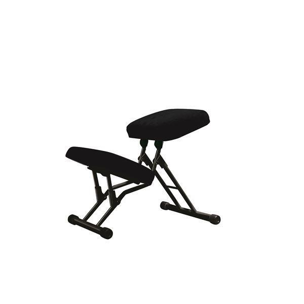 椅子 | 学習椅子ワークチェア (ブラック×ブラック) 幅440mm 日本製 折り畳み 折り畳み スチールパイプ 『セブンポーズチェア』