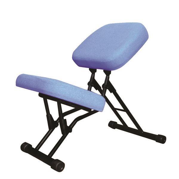 椅子 | 学習椅子ワークチェア (ブルー×ブラック) 幅440mm 日本製 折り畳み スチールパイプ 『セブンポーズチェア』 『セブンポーズチェア』