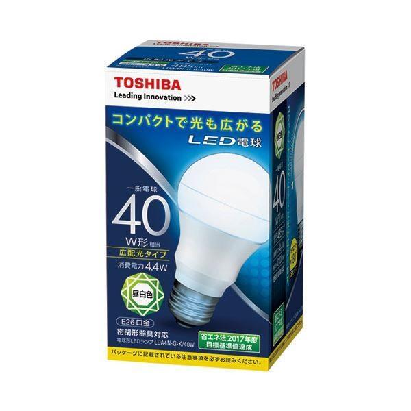 電球 | 東芝ライテック LED電球 広配光40W 昼白色 LDA4NGK40W(×10)