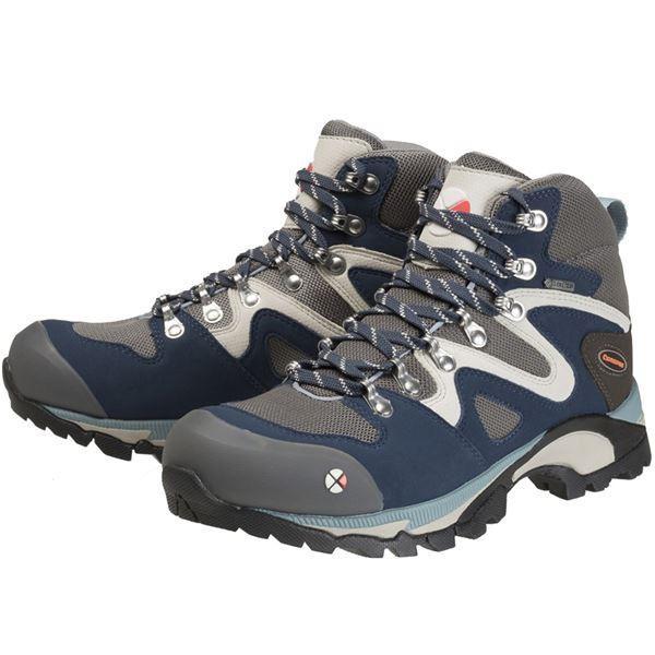 レディース トレッキングシューズ登山靴 (ネイビー 26.0cm) ゴアテックス 合皮合成皮革 『Caravan キャラバン C4_03』   スポーツ・レジャー