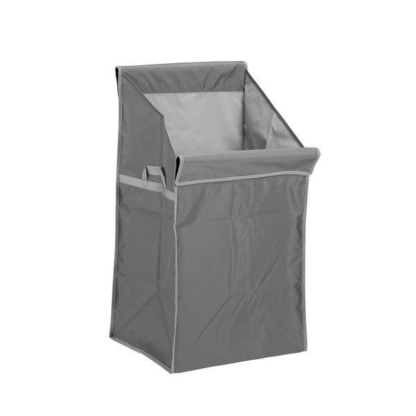 (本体別売) システムカートA運搬カート用品 (替袋E 灰) ナイロン製 (業務用 店舗 集積 回収) (×2)