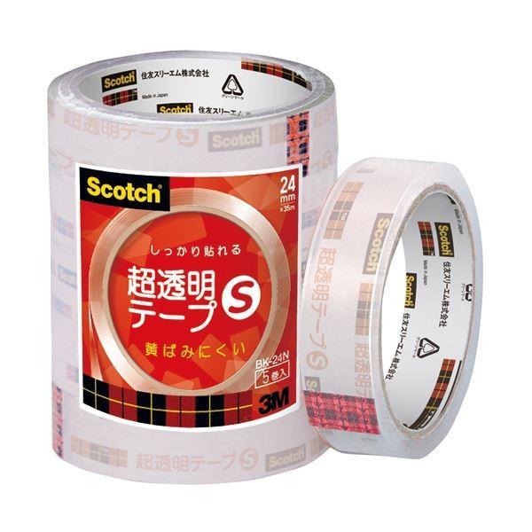 3M スコッチ 超透明テープS24mm×35m BK24N 1パック(5巻) (×30)