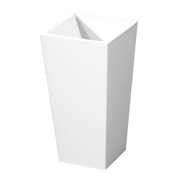 スクエア型 ダストボックスゴミ箱 (9L ホワイト) レザー風 『ユニード カクス』 (×20個セット)