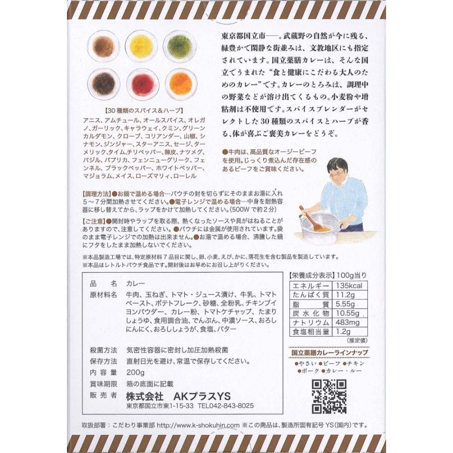 国立薬膳カレービーフ 5個セット akstore 06