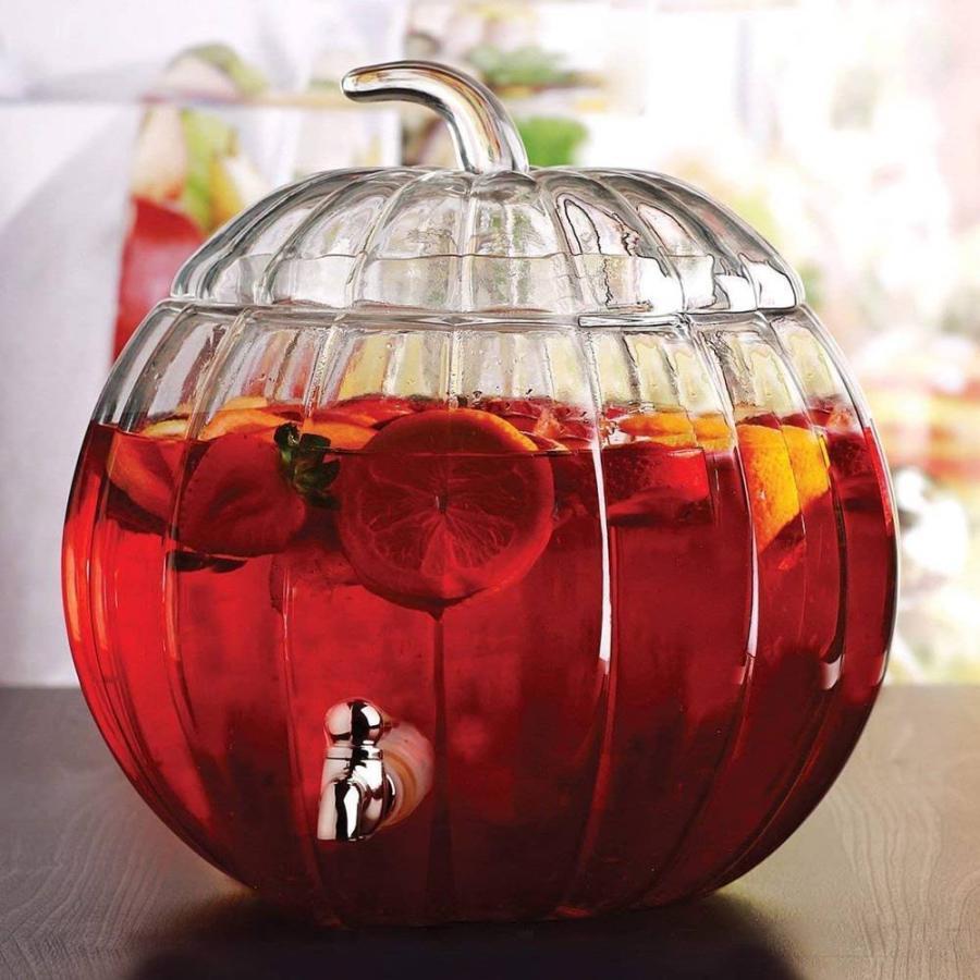 飲料水サーバー ビバレッジディスペンサー ドリンクディスペンサー パンプキン 飲料サーバー 約7.2L カボチャ型 ハロウィン Pumpkin Beverage Dispenser|akt8