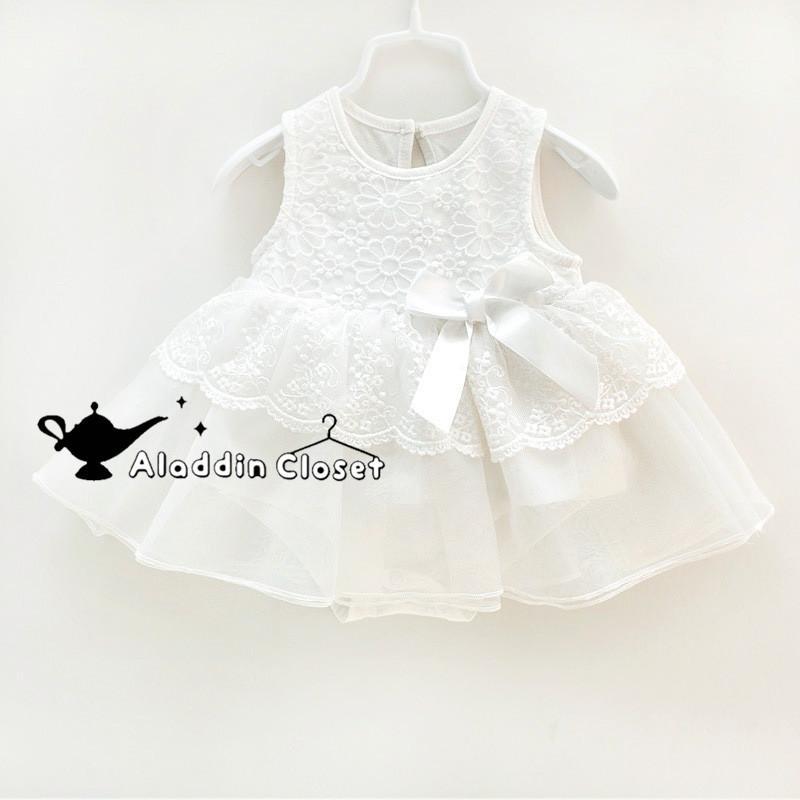 人気ブランド セレモニードレス 夏 新生児 ベビードレス ホワイト ノースリーブ 女の子 売れ筋 撮影衣装 0-30ヶ月 白 晴れ着 レース 赤ちゃん おしゃれ