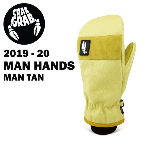 2019-20 2020モデル CRABGRAB クラブグラブ MAN HANDS カラーMAN TAN スノーボード ミット 正規品