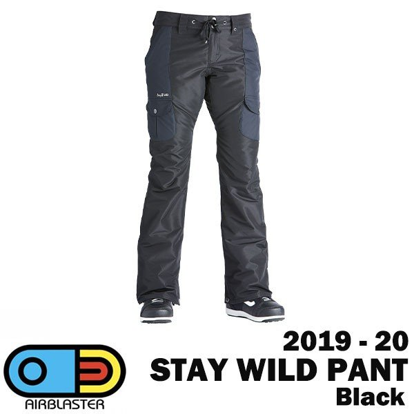 2020 AIRBLASTER 2019-20 エアブラスター スノーボードウェア パンツ レディース STAY WILD PANT カラー黒 送料無料 正規品