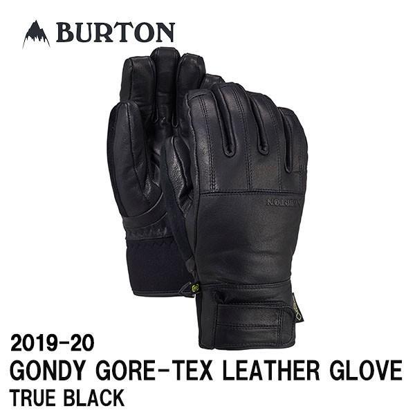2019-20 BURTON バートン 2020 スノーボード グローブ GONDY GORE-TEX LEATHER GLOVE カラーTRUE 黒 正規品