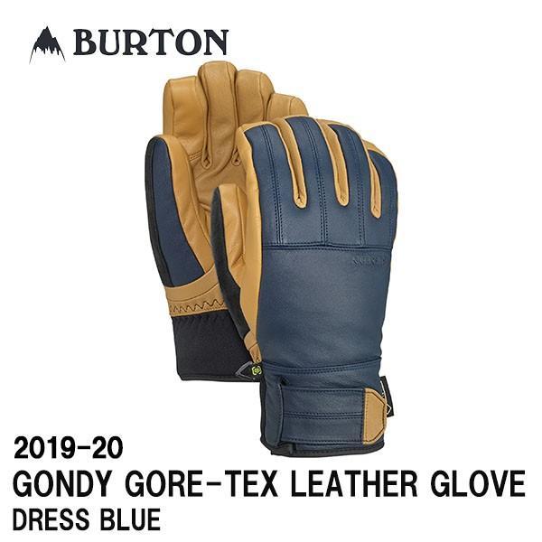 2019-20 BURTON バートン 2020 スノーボード グローブ GONDY GORE-TEX LEATHER GLOVE カラーDRESS 青 正規品