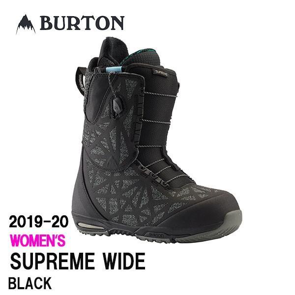 2020 BURTON BOOTS 19-20 バートン スノーボード ブーツ レディース SUPREME WIDE カラー黒 正規品 送料無料 保証書付き