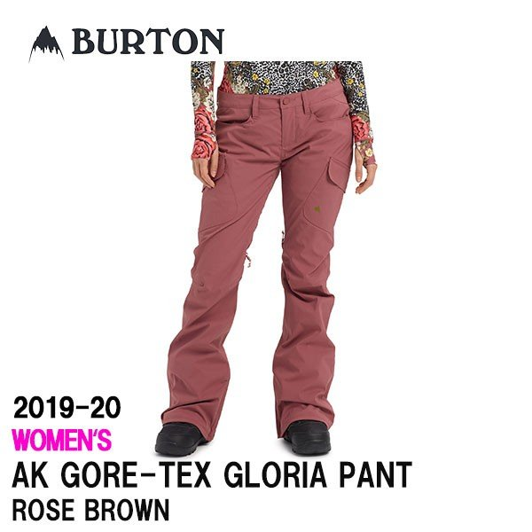 2020 BURTON 2019-20 バートン スノーボードウェア レディース GORE-TEX GLORIA PANT カラーROSE 褐色 送料無料 正規品