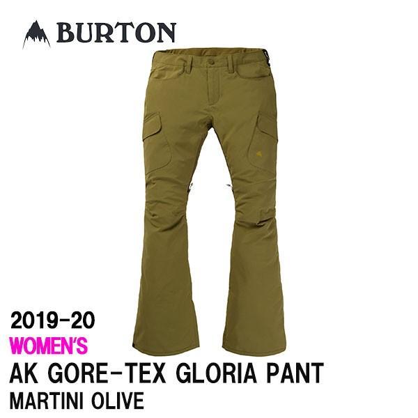 2020 BURTON 2019-20 バートン スノーボードウェア レディース GORE-TEX GLORIA PANT カラーMARTINI OLIVE 送料無料 正規品