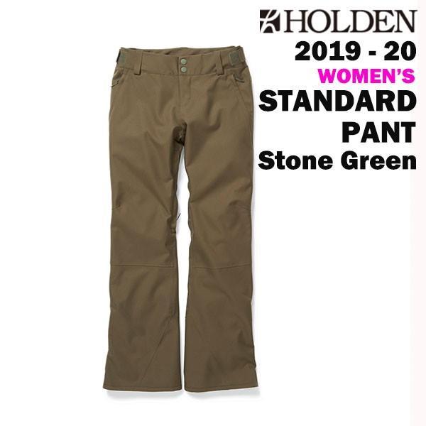 2020 HOLDEN SNOWBOARD WEAR 19-20 ホールデン スノーボードウェア レディース パンツ W'S STANDARD PANT カラーSTONE 緑 正規品 送料無料