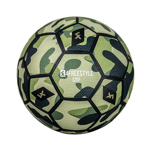 4FREESTYLE 日本正規取扱店 4フリースタイル フットボール 送料無料 一部地域を除く 販売期間 限定のお得なタイムセール GRIP GREEN CAMOFLAGE フリースタイル BALL 正規品 グリーンカモフラージュボール グリップ 4号5号