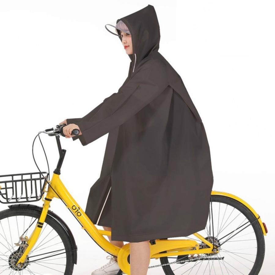 レインコート 自転車 中学生 レディース ポンチョ 通学 ベンチコート レインコートレディース レインポンチョ リュック 対応 レイン コート ツバ付き albatros 19