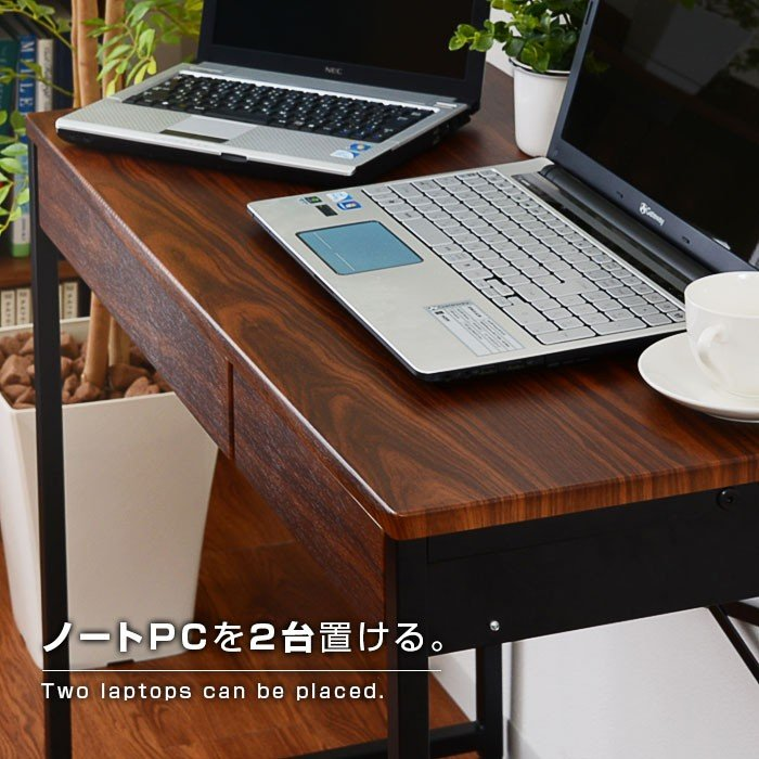 デスク パソコンデスク 幅90cm 机 学習 学習机 おしゃれ|alberoshop|04