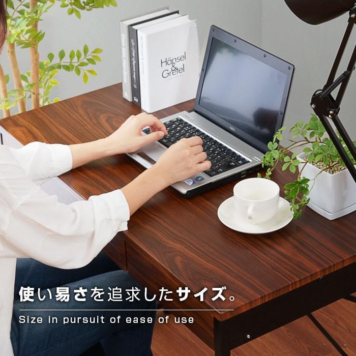 デスク パソコンデスク 幅90cm 机 学習 学習机 おしゃれ|alberoshop|05