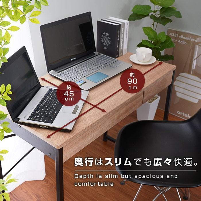 デスク パソコンデスク 幅90cm 机 学習 学習机 おしゃれ|alberoshop|06