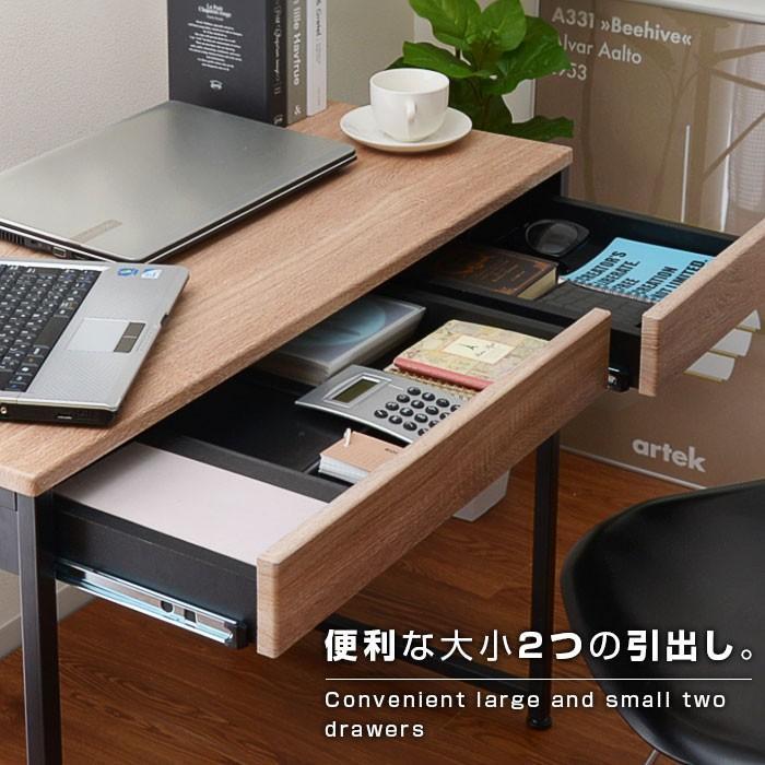 デスク パソコンデスク 幅90cm 机 学習 学習机 おしゃれ|alberoshop|07