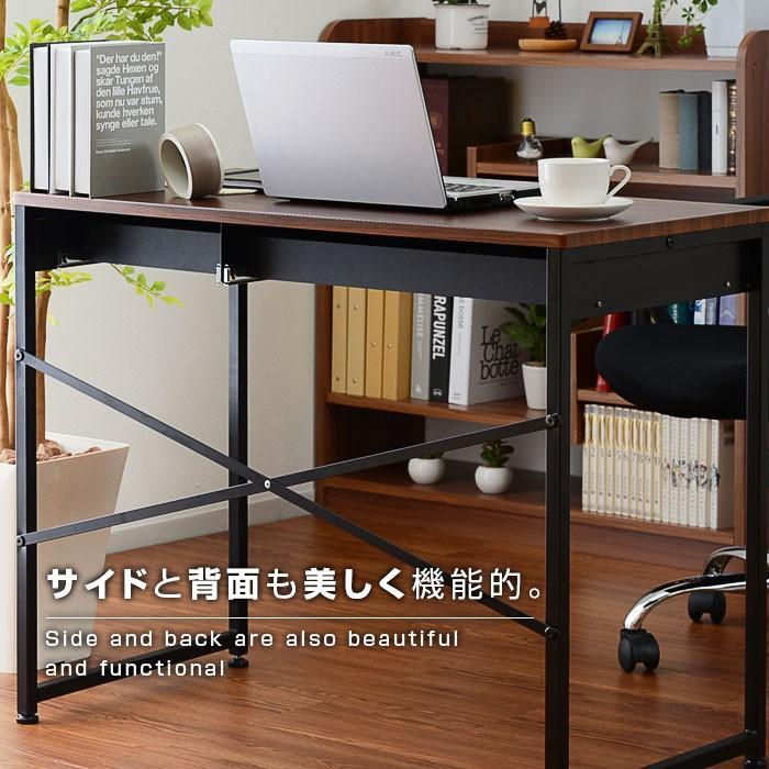 デスク パソコンデスク 幅90cm 机 学習 学習机 おしゃれ|alberoshop|09