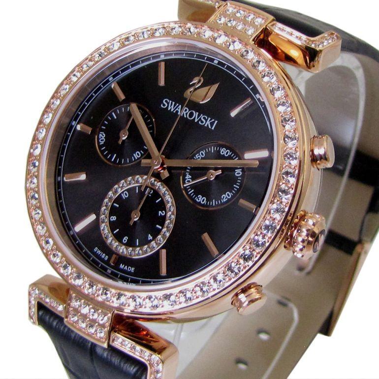 スワロフスキー 腕時計 レディース Era Journey ブラック ローズゴールド クロノグラフ 時計 ウォッチ 5295320 alevelshop 02