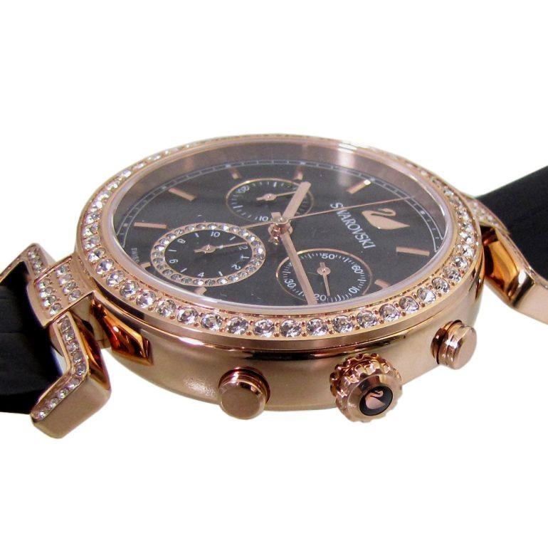 スワロフスキー 腕時計 レディース Era Journey ブラック ローズゴールド クロノグラフ 時計 ウォッチ 5295320 alevelshop 03