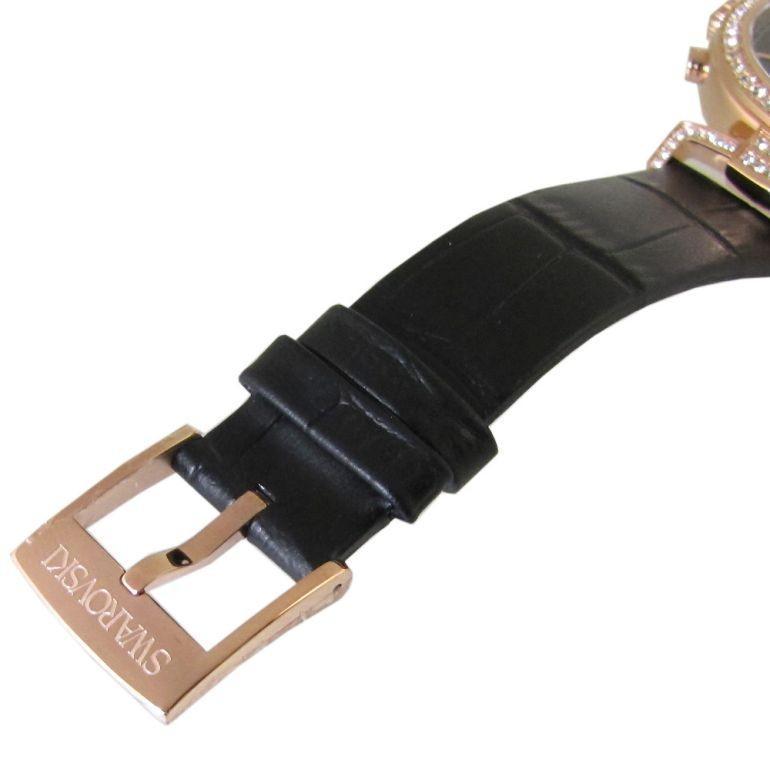 スワロフスキー 腕時計 レディース Era Journey ブラック ローズゴールド クロノグラフ 時計 ウォッチ 5295320 alevelshop 04