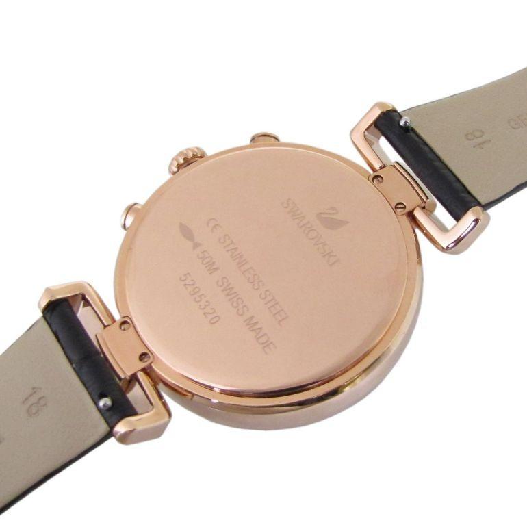 スワロフスキー 腕時計 レディース Era Journey ブラック ローズゴールド クロノグラフ 時計 ウォッチ 5295320 alevelshop 05