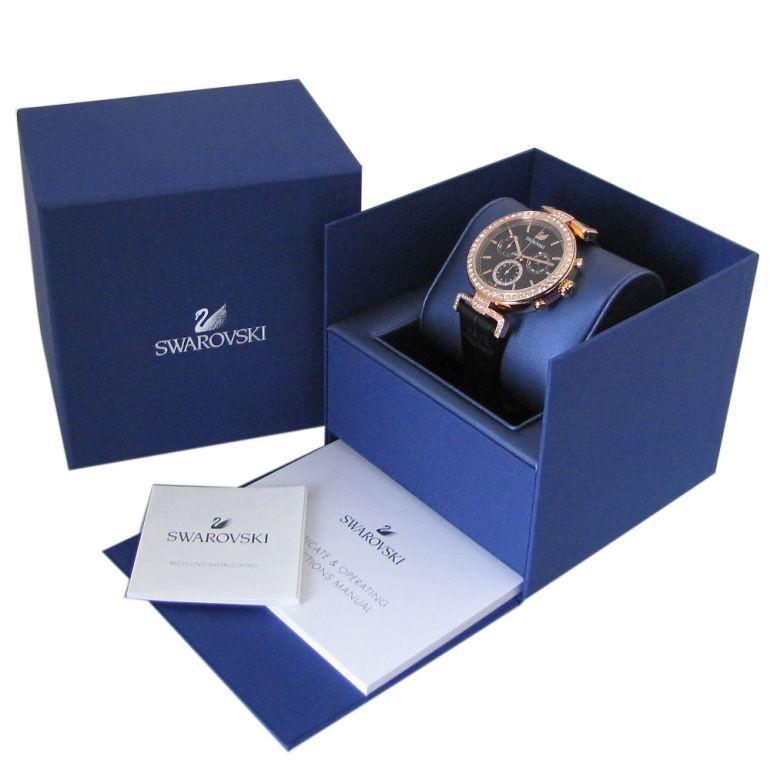 スワロフスキー 腕時計 レディース Era Journey ブラック ローズゴールド クロノグラフ 時計 ウォッチ 5295320 alevelshop 06