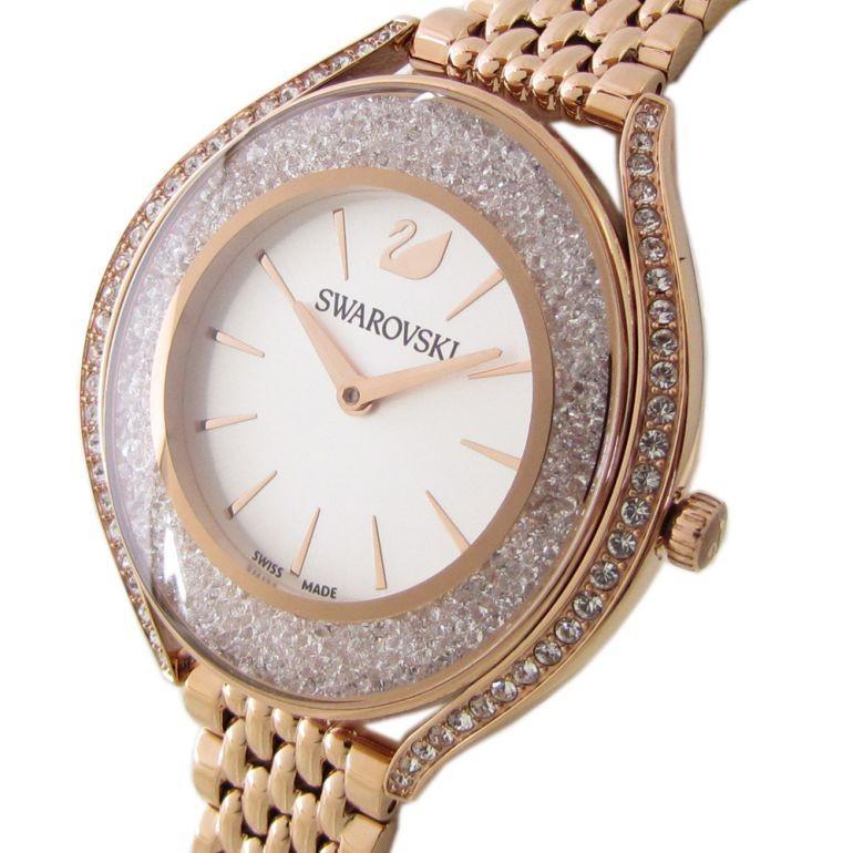 スワロフスキー SWAROVSKI 腕時計 レディース ローズゴールド ブレスレットウォッチ CRYSTALLINE AURA 5519459|alevelshop|02